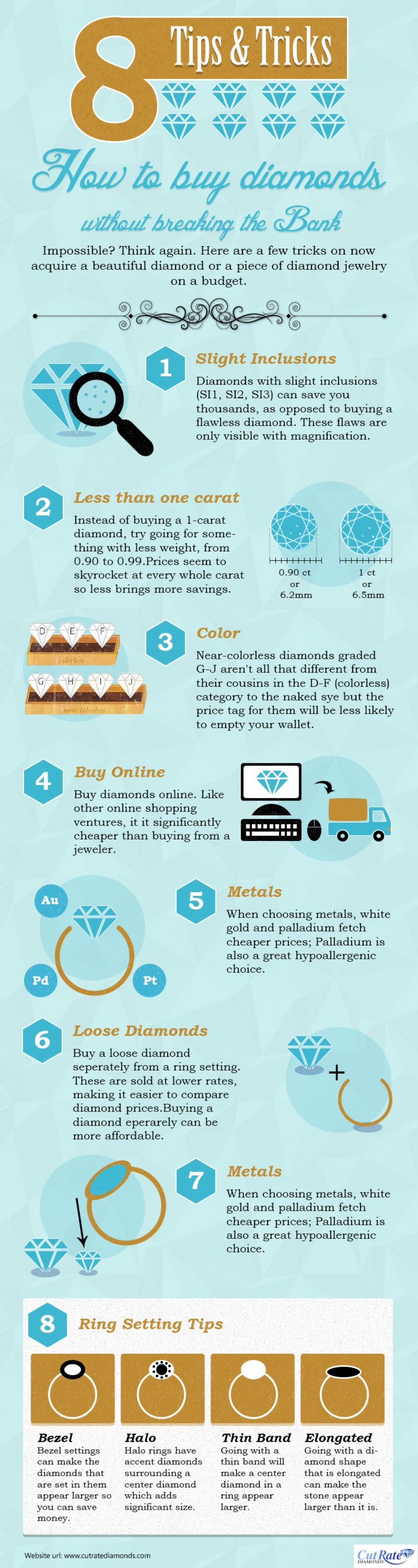 8 Tips How To Buy Diamonds Without Breaking The Bank